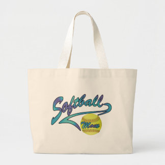 Fastpitch Softball Mom Athletic Tail Jumbo Tote Bag