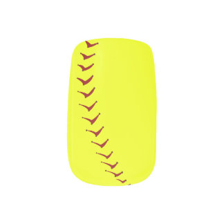 Fastpitch Softball Nails Minx Nail Art