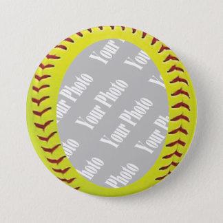 Fastpitch Softball Photo Template 7.5 Cm Round Badge