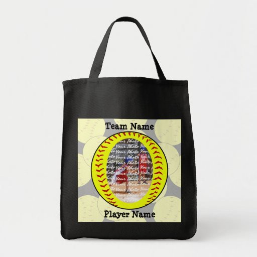 Fastpitch Softball Photo Template Tote Bag