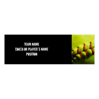 Fastpitch Softball Profile Card Pack Of Skinny Business Cards