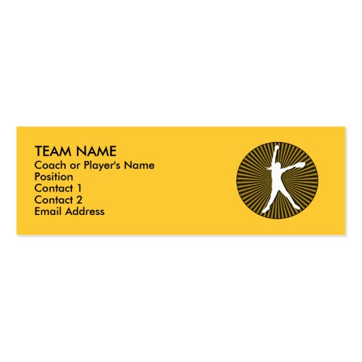Fastpitch Softball Profile Cards Business Card Template