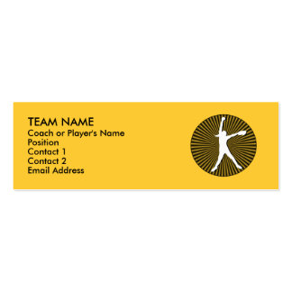 Fastpitch Softball Profile Cards Pack Of Skinny Business Cards