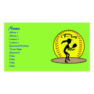 Fastpitch Softball Profile Cards Pack Of Standard Business Cards