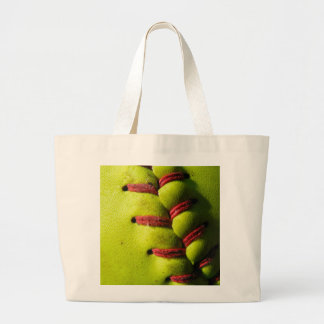 Fastpitch Softball Seam Tote Bag