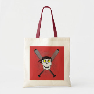 Fastpitch Softball Skull N Bats Tote Bags