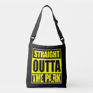 Fastpitch Softball Straight Outta The Park Crossbody Bag