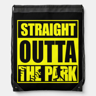 Fastpitch Softball Straight Outta The Park Drawstring Backpack