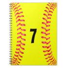 Fastpitch Softball Student-Athlete Spiral Notebook