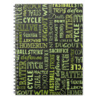 Fastpitch Softball Terms On The Chalkboard Notebook