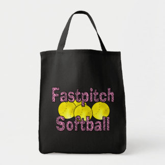 Fastpitch Softball Zebra Style Tote Bag