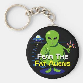 Fat Alien Invasion Key Ring