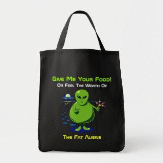 Fat Alien Invasion Tote Bag