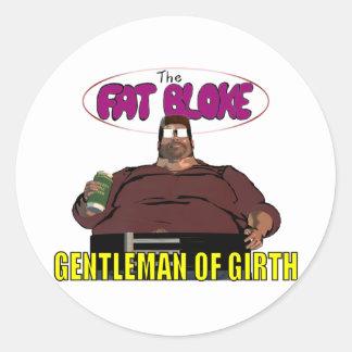 Fat Bloke Classic Round Sticker