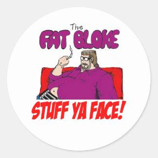 Fat Bloke Round Sticker