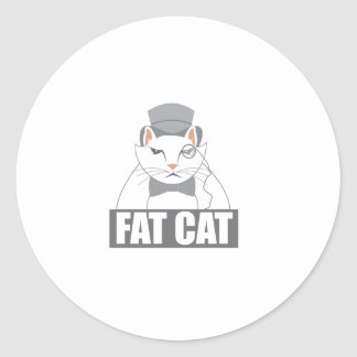 Fat Cat Classic Round Sticker