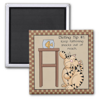 Fat Cat Dieting Tip #1 - Fridge Magnet