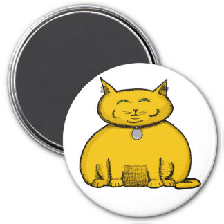 Fat Cat Large Magnet