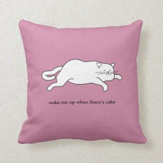 fat cat on cake cushion