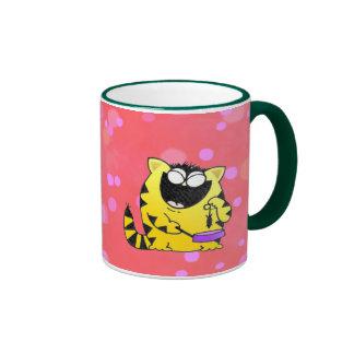 Fat cat ringer mug