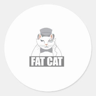 Fat Cat Round Sticker