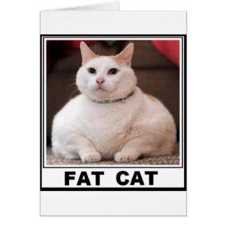 FAT CAT SMILE GREETING CARD