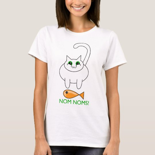 fat cat with fish T-Shirt