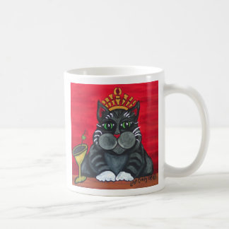 Fat Cat with Martini Mug