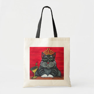 Fat Cat with Martini Tote Bag