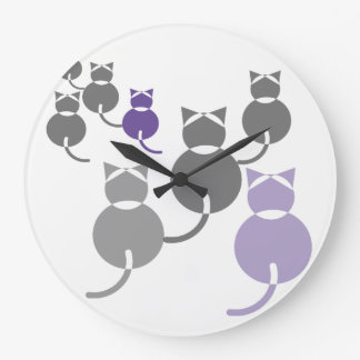 Fat Cats 2 wall clock