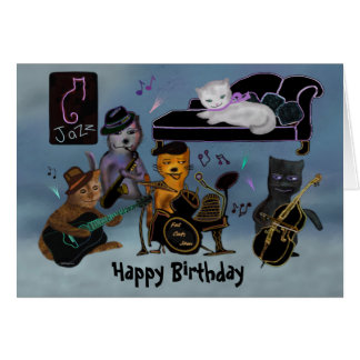 Fat Cats Birthday Jam Card
