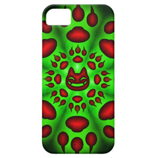 fat cats paw circle iphone 5 case