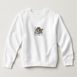 Fat Checkered Country Kitty Cat Acoustic Guitar Sweatshirt