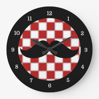 Fat Chef Mustache Clock