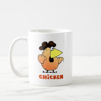 Fat Chicken Mug | Yellow Cartoon Chicken Mug