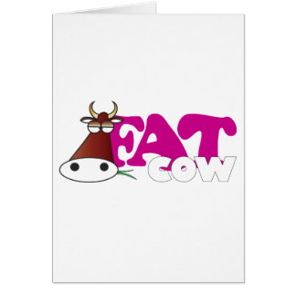 Fat Cow Greeting Card