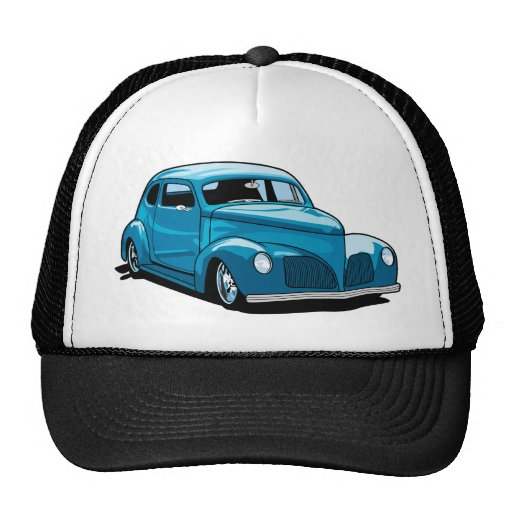 Fat Fendered Hot Rod Coupe Mesh Hats