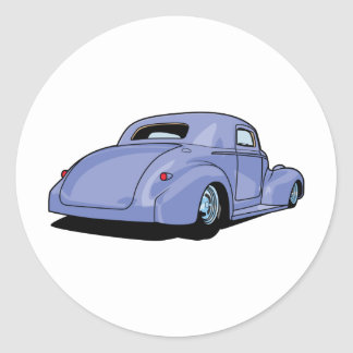 Fat Fendered Hot Rod Round Sticker