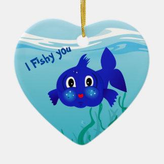 Fat-fish cartoon  illustration christmas ornament