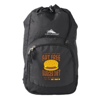 Fat Free Burger Diet Backpack