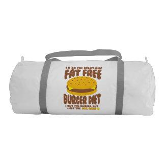 Fat Free Burger Diet Gym Duffel Bag