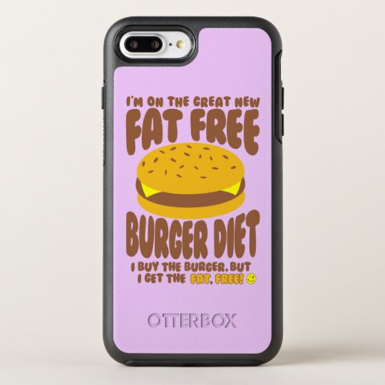 Fat Free Burger Diet OtterBox Symmetry iPhone 8