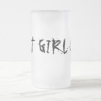 FAT GIRL CUP FROSTED GLASS MUG
