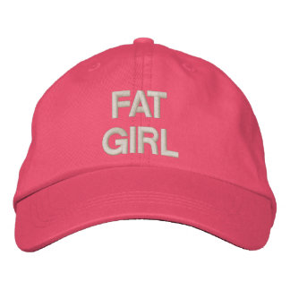 FAT GIRL EMBROIDERED BASEBALL CAPS