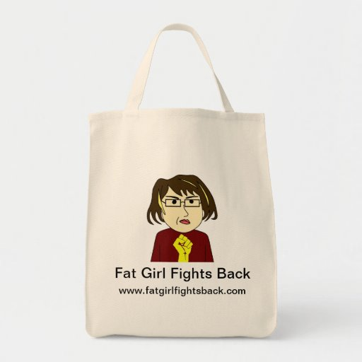 Fat Girl Fights Back Grocery Bag