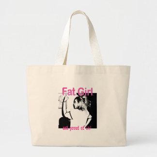 Fat Girl Logo Tote Bags