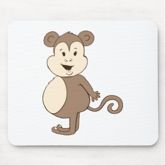 Fat Girl Monkey Mouse Pad