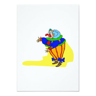 Fat Goofy Hugging Clown Personalized Announcement