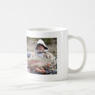 Fat Guy Loves Trout Basic White Mug