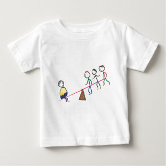 Fat Guy On Seesaw Baby T-Shirt